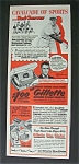 1952 Gillette Super-Speed Razor w/ Ned  Garver
