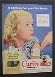 1951 Curity Adhesive Tape with Little Girl