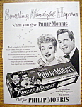 Click to view larger image of 1952 Philip Morris with Lucille Ball & Desi Arnaz (Image1)