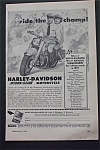 1950 Harley Davidson Hydra-Glide Motorcycle with a Man