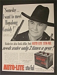 1952  Auto Lite Battery  with  Hopalong  Cassidy