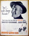 Vintage Ad: 1952 Auto Lite Spark Plugs w/Jimmy Durante