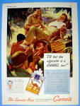 1945 Camel Cigarettes with Soldiers Talking & Smoking