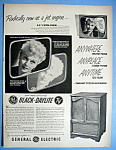Vintage Ad: 1952 GE Black-Daylite TV with Lucille Ball