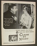 1952  Movie  Ad  for  Clash  By  Night