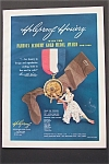 1950 Holeproof Hosiery with Medal & Woman with Hosiery