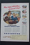 Click here to enlarge image and see more about item 285: Vintage Ad: 1950 Greyhound