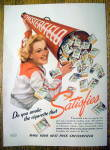 Click here to enlarge image and see more about item 28: 1940 Chesterfield Cigarettes with Woman & Bull Horn
