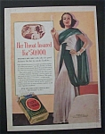1938 Dual  Ad: Lucky Strike Cigarettes & Baker's  Cocoa