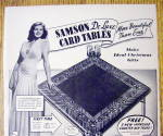 Click to view larger image of 1940 Samson Card Tables with Actress Rita Hayworth (Image2)