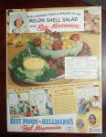 Click to view larger image of 1940 Hellmann's Mayonnaise with Melon Shell Salad (Image3)