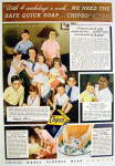 Click to view larger image of 1936 Chipso Quick Suds Soap w/ Woman & 9 Children (Image2)