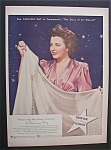 Vintage Ad: 1944 North Star Blankets w/Laraine Day