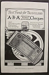 Click here to enlarge image and see more about item 3115: Vintage Ad: 1920 American Bankers Cheques