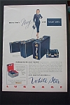 1951 White Star Luggage with Bright White Luggage