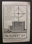 Click here to enlarge image and see more about item 3154: Vintage Ad: 1925 De Forest Radio  Co.
