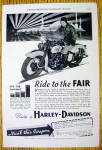 1934 Harley Davidson Motorcycle with Ride To The Fair