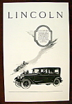 Vintage Ad: 1926 Lincoln Automobile