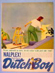 1961 Dutch Boy Nalplex Wall Paint w/ Woman Painting