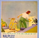 Click to view larger image of 1961 Dutch Boy Nalplex Wall Paint w/ Woman Painting (Image2)