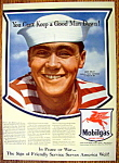 Vintage Ad: 1943 Mobilgas with Jack Kelly (Seaman)