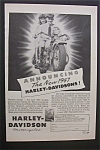 1946 Harley Davidson Motorcycle with Man & Woman