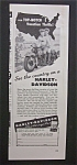 Click here to enlarge image and see more about item 3353: 1947 Harley Davidson Motorcycle with Man & Woman