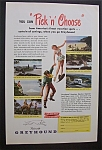 Click here to enlarge image and see more about item 3395: Vintage Ad: 1949  Greyhound