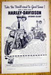 1949 Harley Davidson Hydra Glide Motorcycle with Couple