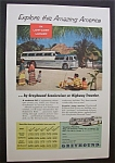 Click here to enlarge image and see more about item 3425: Vintage Ad: 1955 Greyhound