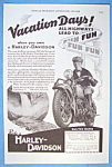 1937 Harley Davidson Motorcycle with Man On Bike