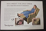 1955 Barcalounger with Woman Sitting In Lounger