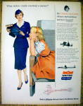 1955 United Air Lines with Stewardess & Little Girl