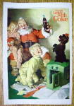 Click to view larger image of 1964 Coca-Cola (Coke) with Santa Claus & Puppy (Image1)