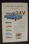 1956 Chevrolet Bel Air Beauville with Baseball Team