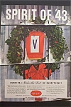 1943 Schenley Whiskey with Wreath in Window