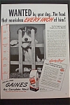Click here to enlarge image and see more about item 354: 1945 Gaines Dog Meal