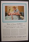 1934 Ivory Soap with a Woman Bathing Her Child
