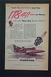 Vintage Ad: 1952 Champion Spark Plugs w/ Guy Lombardo