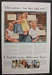 1934 Chipso Quick Suds with Woman & Her Children