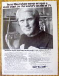 Click to view larger image of Vintage Ad: 1978 Sinclair Pocket TV w/ Terry Bradshaw (Image1)