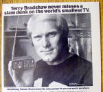 Click to view larger image of Vintage Ad: 1978 Sinclair Pocket TV w/ Terry Bradshaw (Image2)