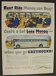Click here to enlarge image and see more about item 3751: Vintage Ad: 1950  Greyhound