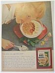 1955 Kellogg's Rice Krispies Cereal w/ Boy Licking Lips