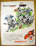 Vintage Ad: 1956 Texaco Gasoline with the Dalmatians