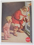 1959 Coca Cola (Coke) with Santa Claus & Refrigerator