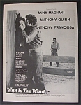 1958  Movie  Ad  For  Wild  Is  The  Wind