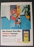 1958 Simoniz Vinyl Floor Wax w/Children & Muddy Boots