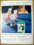 Click to view larger image of Vintage Ad: 1955 Green Giant Peas (Image1)
