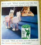 Click to view larger image of Vintage Ad: 1955 Green Giant Peas (Image2)